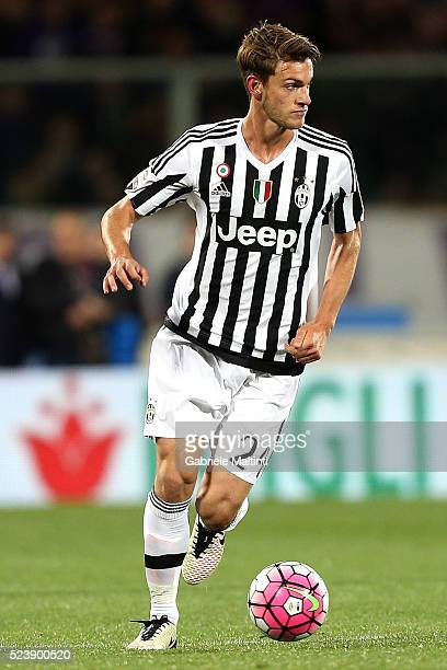 Daniele Rugani of Juventus FC in action during the Serie A match between ACF Fiorentina and Juventus FC at Stadio Artemio Franchi on April 24 2016 in...