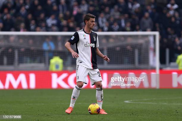 Daniele Rugani of Juventus FC in action during the Serie A match between Juventus Fc and Brescia Calcio. Juventus Fc wins 2-0 over Brescia Calcio.