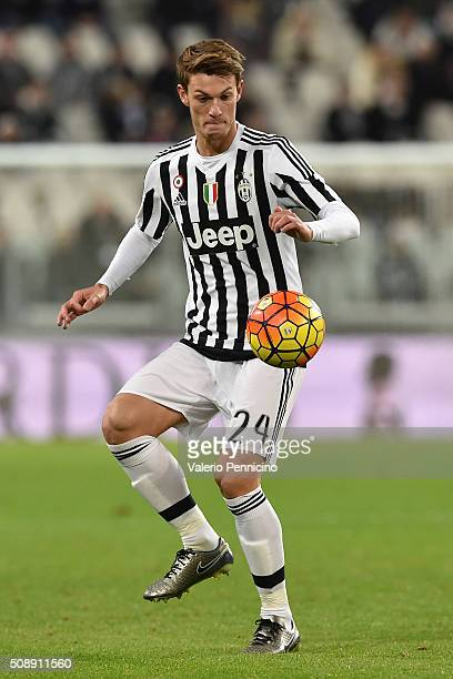 Daniele Rugani of Juventus FC in action during the Serie A match between Juventus FC and Genoa CFC at Juventus Arena on February 3 2016 in Turin Italy
