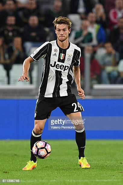Daniele Rugani of Juventus FC in action during the Serie A match between Juventus FC and Cagliari Calcio at Juventus Stadium on September 21 2016 in...