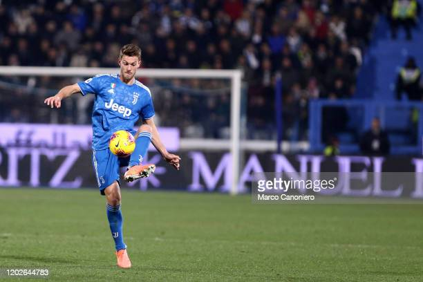 Daniele Rugani of Juventus FC in action during the Serie A match between Spal and Juventus Fc. Juventus Fc wins 2-1 over Spal.