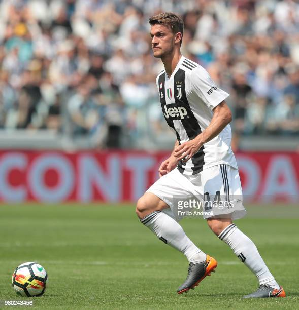 Daniele Rugani of Juventus FC in action during the serie A match between Juventus and Hellas Verona FC at Allianz Stadium on May 19 2018 in Turin...