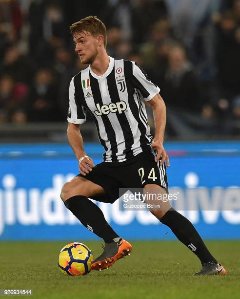Daniele Rugani of Juventus FC in action during the serie A match between SS Lazio and Juventus at Stadio Olimpico on March 3 2018 in Rome Italy
