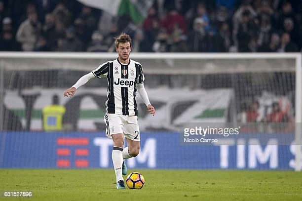 Daniele Rugani of Juventus FC in action during the TIM Cup match between Juventus FC and Atalanta BC Juventus FC wins 32 over Atalanta BC