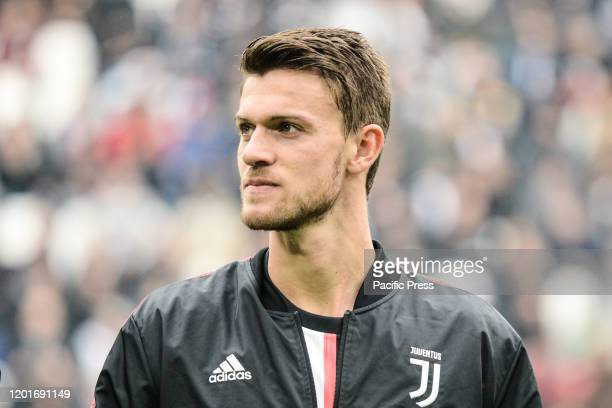 Daniele Rugani of Juventus FC looks on before the Serie A football match between Juventus FC and Brescia Calcio. Juventus FC won 2-0 over Brescia...