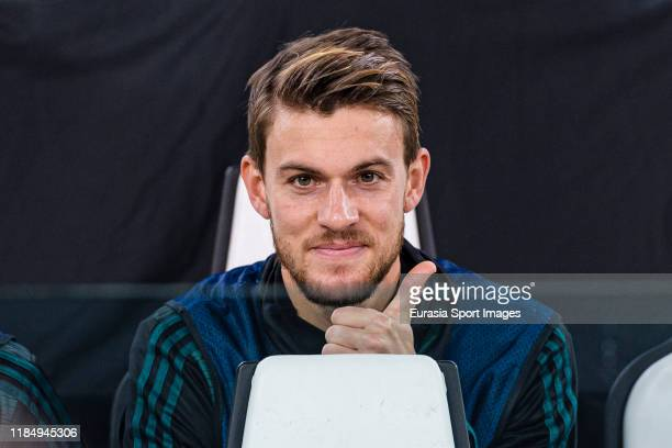 Daniele Rugani of Juventus gestures during the UEFA Champions League group D match between Juventus and Atletico Madrid at Juventus Arena on November...