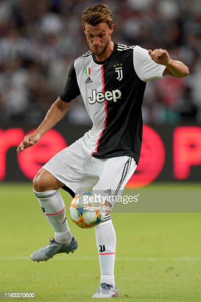 Daniele Rugani of Juventus in action during the International Champions Cup match between Juventus and Tottenham Hotspur at the Singapore National...