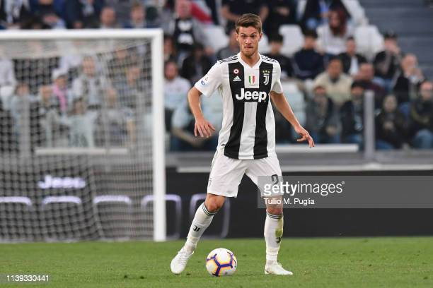 Daniele Rugani of Juventus in action during the Serie A match between Juventus and Empoli at Allianz Stadium on March 30, 2019 in Turin, Italy.