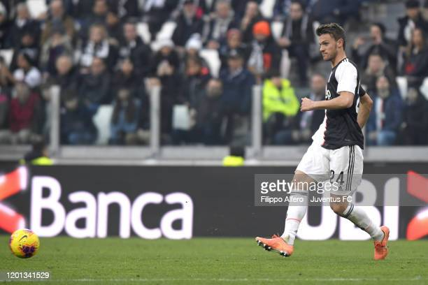 Daniele Rugani of Juventus in action during the Serie A match between Juventus and Brescia Calcio at Allianz Stadium on February 16 2020 in Turin...