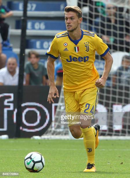 Daniele Rugani of Juventus in action during the Serie A match between US Sassuolo and Juventus at Mapei Stadium Citta' del Tricolore on September 17...