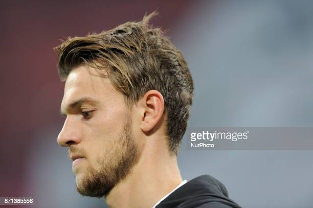 Daniele Rugani of Juventus player goes into the field before the start match valid for Italian Football Championships Serie A 20172018 between AC...
