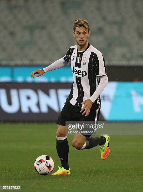 Daniele Rugani of Juventus runs with the ball during the 2016 International Champions Cup Australia match between Melbourne Victory FC and Juventus...