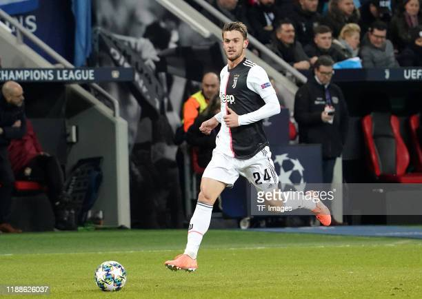 Daniele Rugani of Juventus Turin controls the ball during the UEFA Champions League group D match between Bayer Leverkusen and Juventus at BayArena...