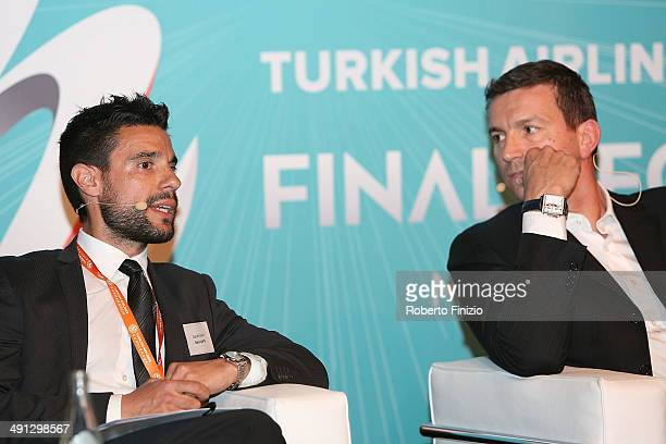 Daniele Sano of Bwin and Fabio Guadagnini of Fox Sports during the Isportconnect Directors Club in Association with Euroleague Basketball as part of...