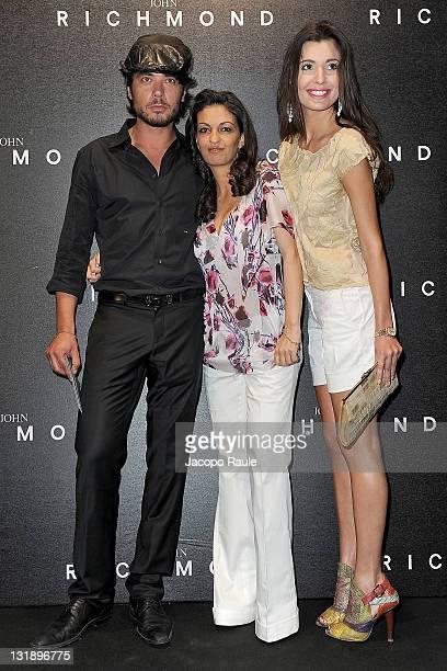Daniele Santoianni Alessandra Moschillo and Debora Volpe attend the John Richmond fashion show as part of Milan Fashion Week Menswear Spring/Summer...