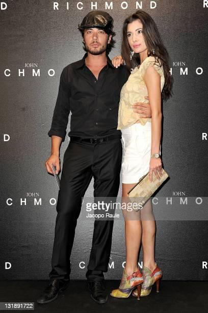 Daniele Santoianni and Debora Volpe attend the John Richmond fashion show as part of Milan Fashion Week Menswear Spring/Summer 2012 on June 20 2011...