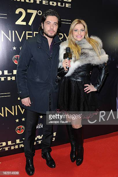 Daniele Santoianni and Francesca Cipriani attend the Hollywood Club 27th anniversary on February 21 2013 in Milan Italy