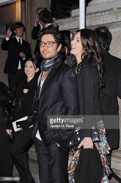 Daniele Santoianni and guest attend Philipp Plein fashion show as part of Milan Womenswear Fashion Week on February 25 2012 in Milan Italy