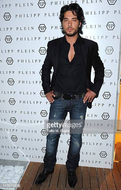 Daniele Santoianni attends the Philipp Plein cocktail party after fashion show as part of Milan Fashion Week Menswear Spring/Summer 2012 on June 20...