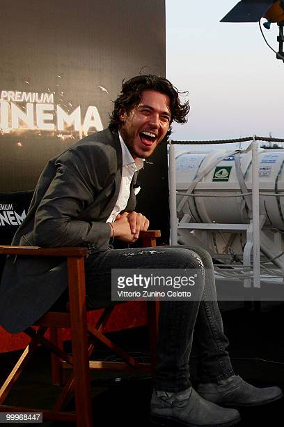 Daniele Santoianni attends the 'Stalking' press meeting hosted by Lancia aboard the 'Signora del Vento' on May 18 2010 in Cannes France