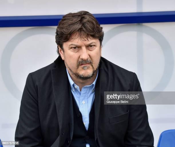 Daniele Sebastiani President of Pescara Calcio prior the Serie A match between Pescara Calcio and AC Milan at Adriatico Stadium on April 2, 2017 in...