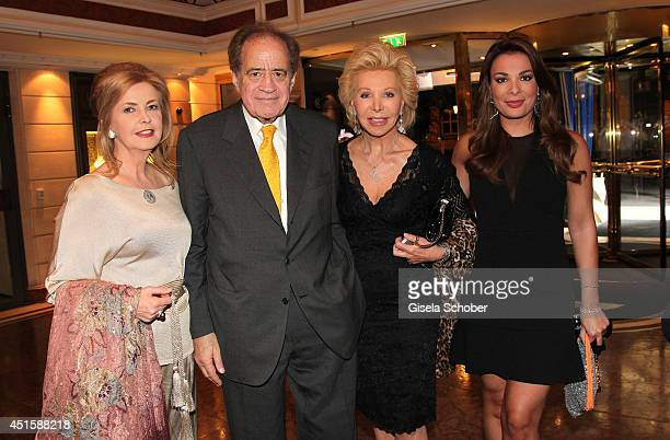 Daniele Thoma Arthur Cohn Ute Henriette Ohoven and daughter Chiara attend the 'Gala Abend mit Arthur Cohn' as part of Filmfest Muenchen 2014 at...
