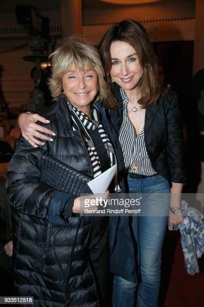 Daniele Thompson and Elsa Zylberstein attend Sylvie Vartan performs at Le Grand Rex on March 16 2018 in Paris France