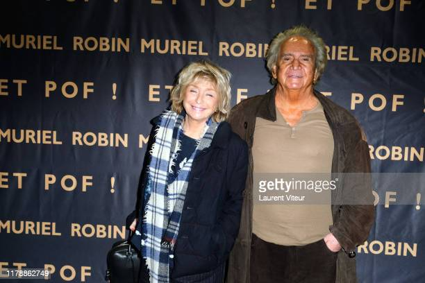 """Daniele Thompson and her husband Albert Koski attend the """"Et Pof"""" Muriel Robin One Woman Show At Palais Des Sports on October 03, 2019 in Paris,..."""