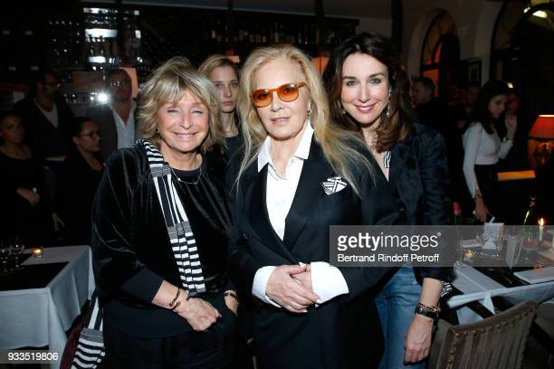 Daniele Thompson and Sylvie Vartan attend the Dinner at Waknine Restaurant after Sylvie Vartan performed at Le Grand Rex on March 16 2018 in Paris...