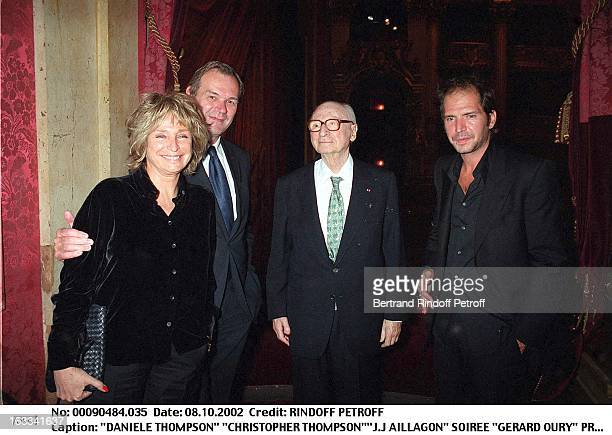 Daniele Thompson 'Christopher Thompson''JJ Aillagon' 'Gerard Oury' film screening of 'La Grande Vadrouille' at the Garnier opera