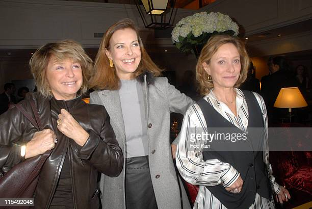 Daniele ThompsonCarole BouquetBrigitte Rouan attend the Sofitel Hotels and Unifrance Cocktail Party at the Sofitel Opera on October 15 2007 in Paris...