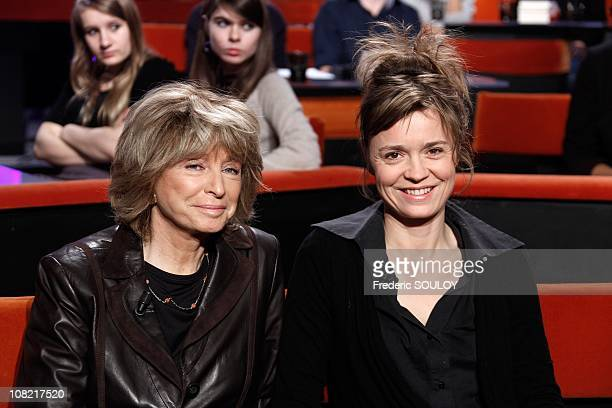 Daniele Thomson and Caroline Proust attends the Au Field de la Nuit TV show on January 13 2011 in Paris France