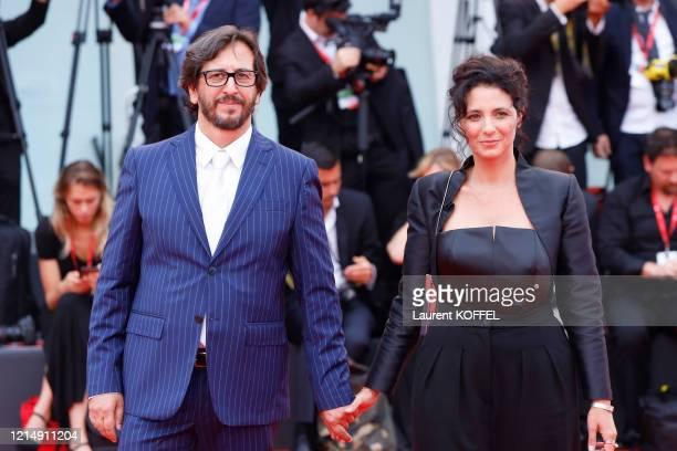 Daniele Vicari and Costanza Quatriglio walks the red carpet ahead of the closing ceremony of the 76th Venice Film Festival at Sala Grande on...