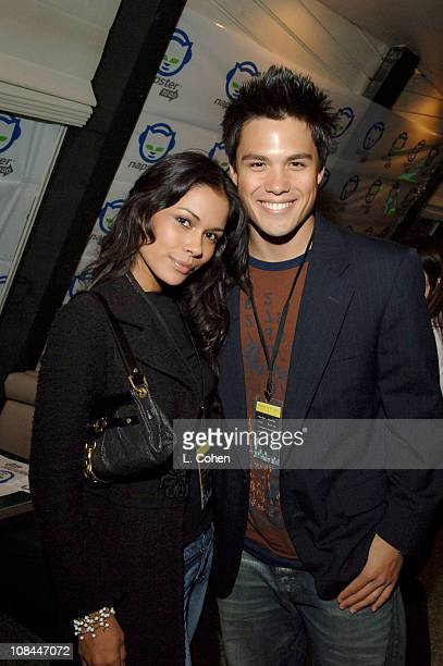 Daniella Alonso and Michael Copon during Napster To Go Cafe Comes to Los Angeles with Free Digital Music and MP3 Player Giveaways at Napster To Go...