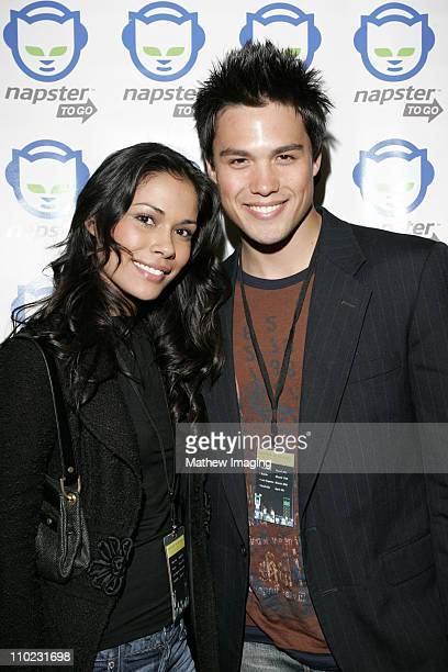 Daniella Alonso and Michael Copon during Napster To Go Cafe Comes to Los Angeles with Free Digital Music and MP3 Player Giveaways at Mel's DriveIn in...