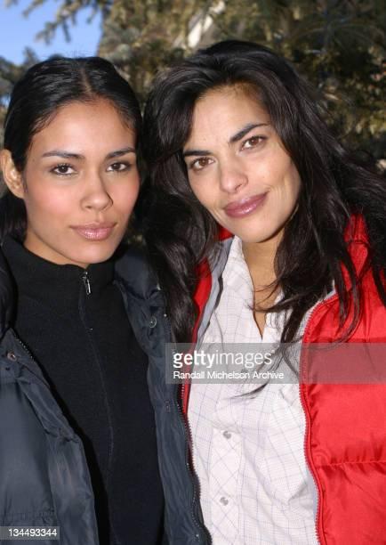 Daniella Alonso and Sarita Choudhury during 2003 Sundance Film Festival Rhythm of the Saints Outdoor Portraits at Main Street Park City in Park City...