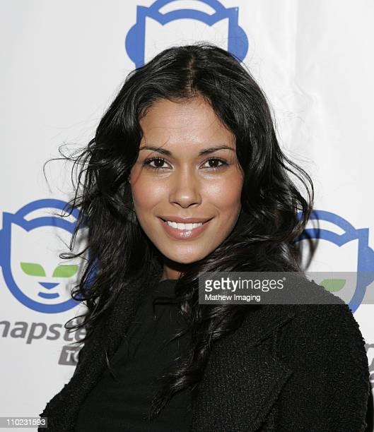 Daniella Alonso during Napster To Go Cafe Comes to Los Angeles with Free Digital Music and MP3 Player Giveaways at Mel's DriveIn in West Hollywood...