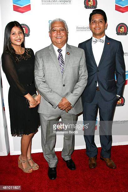 Daniella Chavez, Paul Chavez and Andres Chavez attend the Cesar Chavez Foundation's 2014 Legacy Awards Dinner held at the Millennium Biltmore Hotel...