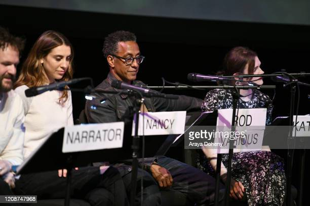 "Daniella Covino and Andre Royo at the Film Independent Screening Series Presents Live Read Of ""Breaking Away"" at Wallis Annenberg Center for the..."