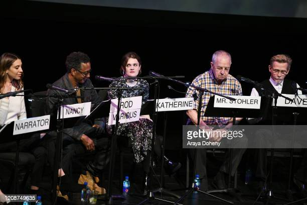 Daniella Covino, Andre Royo, Gayle Rankin, Paul Dooley and Dennis Christopher at the Film Independent Screening Series Presents Live Read Of...