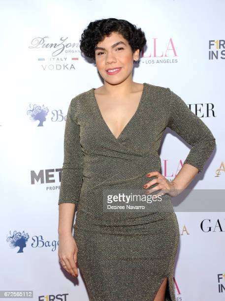 Daniella De Jesus attends BELLA New York Spring Issue cover party hosted by Kelly Osbourne at Bagatelle on April 24 2017 in New York City