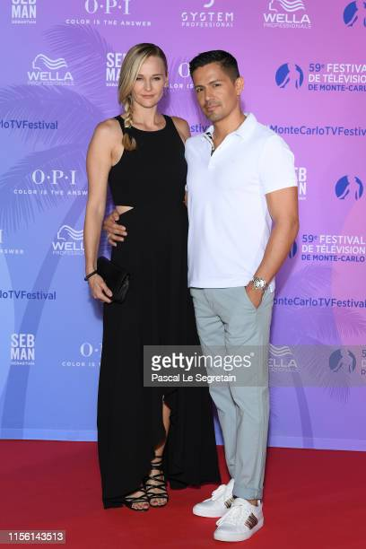 Daniella Deutscher and Jay Hernandez arrive at the 59th Monte Carlo TV Festival : TV Series Party on June 15, 2019 in Monte-Carlo, Monaco.