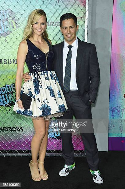 Daniella Deutscher and Jay Hernandez attend the Suicide Squad World Premiere at The Beacon Theatre on August 1 2016 in New York City
