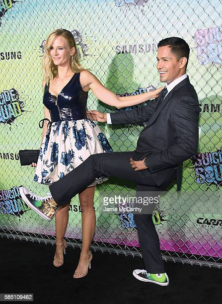"Daniella Deutscher and Jay Hernandez attend the ""Suicide Squad"" World Premiere at The Beacon Theatre on August 1, 2016 in New York City."