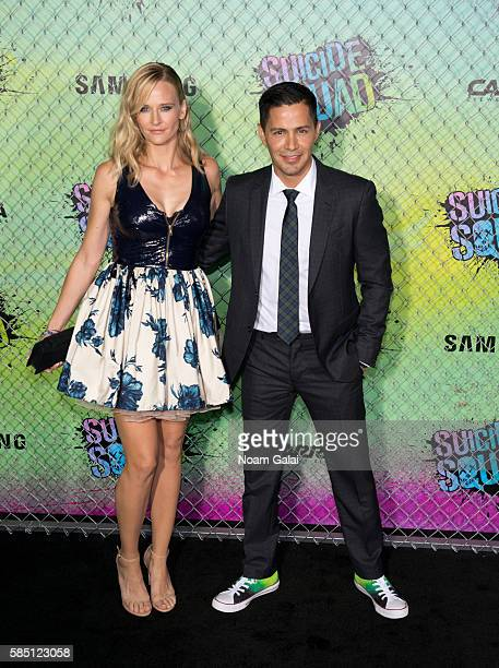 "Daniella Deutscher and Jay Hernandez attend the world premiere of ""Suicide Squad"" at The Beacon Theatre on August 1, 2016 in New York City."