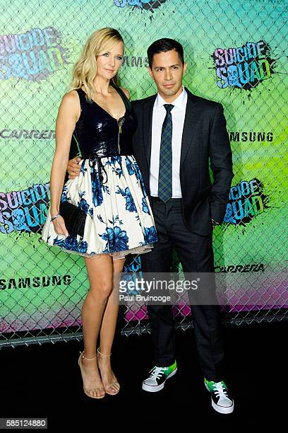 "Daniella Deutscher and Jay Hernandez attend The World Premiere of Warner Bros. Pictures and Atlas Entertainment's ""Suicide Squad"" at The Beacon..."
