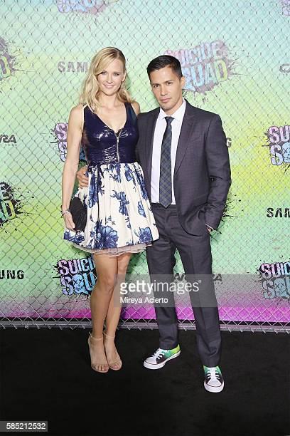 "Daniella Deutscher and Jay Hernandez attends the ""Suicide Squad"" world premiere at The Beacon Theatre on August 1, 2016 in New York City."