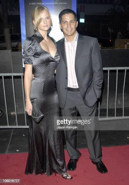 Daniella Deutscher and Jay Hernandez during World Trade Center New York Premiere Arrivals at The Ziegfeld Theatre in New York New York United States