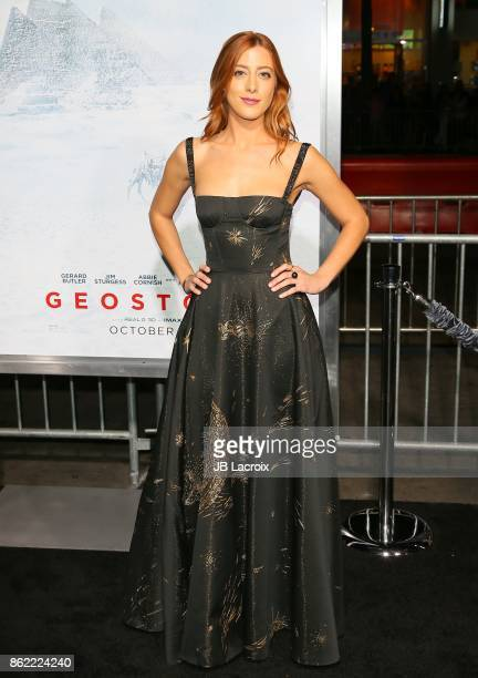 Daniella Garcia Lorido attend the premiere of Warner Bros Pictures' 'Geostorm' on October 16 2017 in Hollywood California