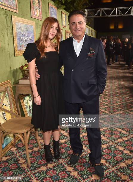 Daniella GarciaLorido and Andy Garcia attend the premiere of HBO Films' My Dinner With Herve at Paramount Studios on October 4 2018 in Hollywood...
